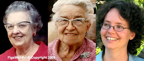 Grandma 'Mo' (left) Grandma Helen (middle) & Briana