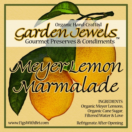 garden jewels meyer lemon marmalade label