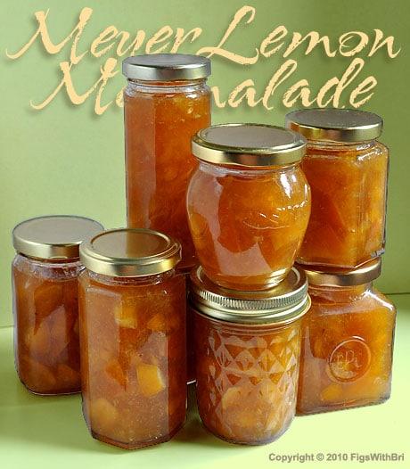 jars of freshly made meyer lemon marmalade
