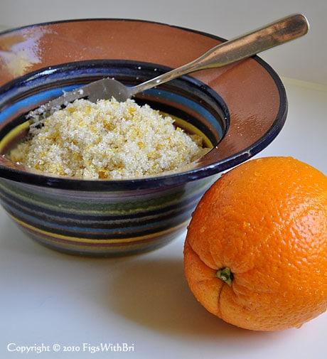 Meyer Lemon zest mixed with organic cane sugar