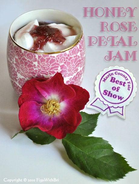 Honey Rose Petal Jam makes a lovely topping for fresh yogurt