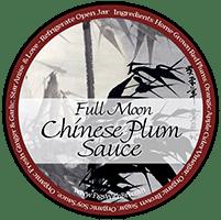 label design for full moon chinese plum sauce