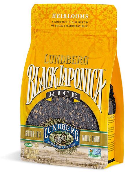 lundberg black japonica rice package
