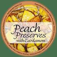 peach preserves with cardamom label
