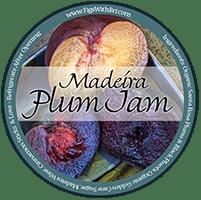 cinnamon spiced madeira plum jam label