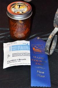 spiced peach pineapple preserves blue ribbon winner