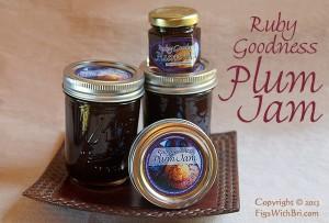 santa rosa plum jam in jars