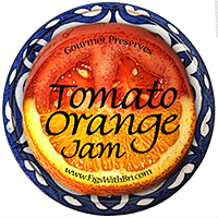 label icon for tomato orange jam
