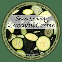 sweet lemony zucchini butter label