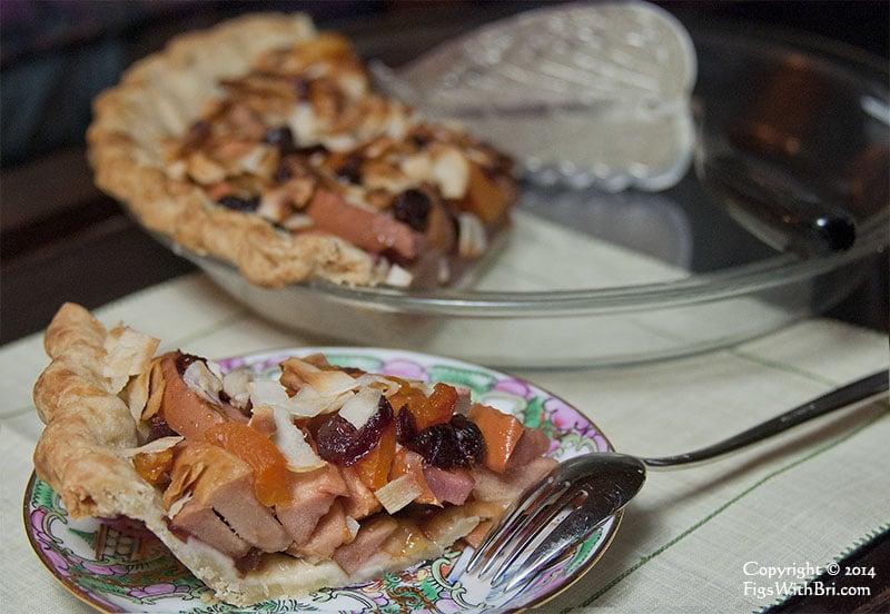 hidden rose apple cranberry apricot pie
